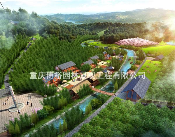 贵州赤水凉江村生态园刻画设计